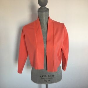 Calvin Klein Cropped Coral open cardigan